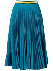 Calvin Klein 205W39nyc Pleated Midi Skirt Blue