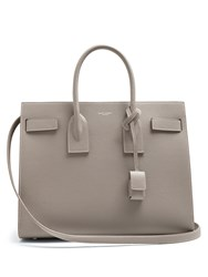 Saint Laurent Sac De Jour Small Leather Tote Light Grey