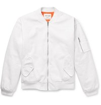 Noon Goons Rudeboy Cotton Canvas Bomber Jacket White