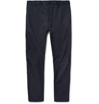 Lanvin Tapered Cotton Twill Trousers Navy