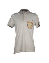 Red Dog Topwear Polo Shirts Men Light Grey