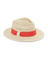Saks Fifth Avenue Straw Fedora Natural