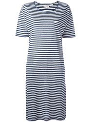 Chinti And Parker Breton Stripe Jersey Dress White