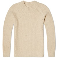Beams Plus Rib High Neck Knit Oatmeal