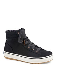 Keds Hi Rise Canvas High Top Sneakers Black