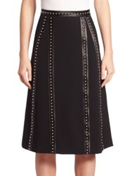 Altuzarra Steele Studded A Line Skirt Black
