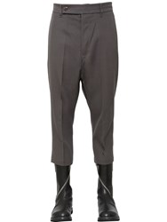 Rick Owens Cropped Wool Drill Pants