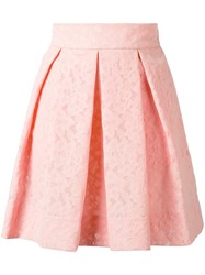 Boutique Moschino Pleated Lace Skirt Pink Purple