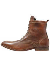 Hudson H By Swathmore Laceup Boots Tan Brown