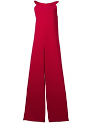 Red Valentino Wide Leg Jumpsuit Red