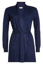 Closed Cardigan With Wool And Cashmere Blue