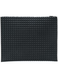 No Ka' Oi Chocolate Bar Quilted Clutch Black