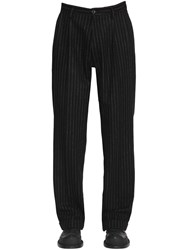 Maison Martin Margiela 25Cm Wool And Denim Loose Pants Black