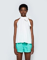 Apiece Apart Medina Tie Neck Top In White