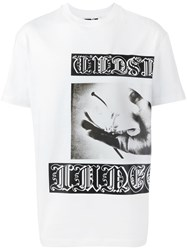 Mcq By Alexander Mcqueen Goth Tattoo Print T Shirt White