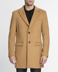 Scotch And Soda Camel Classic Wool Coat