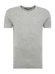 Duck And Cover Colin Plain Crew Neck Regular Fit T Shirt Light Grey Marl