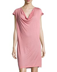 Cosabella Cocoon Drape Front Slip Dress Dusty Rose