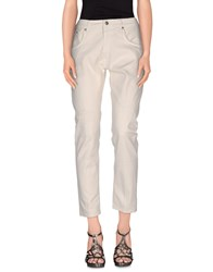 People Denim Denim Trousers Women Beige