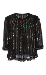 Isabel Marant Fordon Sequin Crop Top Black
