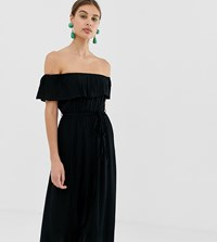 River Island Maxi Dress With Frill In Black