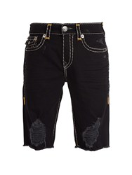 True Religion Ricky Denim Shorts Black