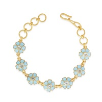 Emma Chapman Jewels Aquamarine Enamel Flower Bracelet Blue
