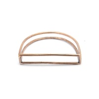 Mikinora Half Moon Bangle Bronze Nude Neutrals Gold