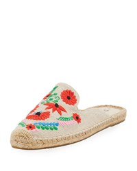 Soludos Ibiza Embroidered Canvas Mule Multi