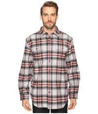 Carhartt Hubbard Plaid Shirt Shadow Men's Long Sleeve Button Up Brown