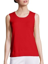 St. John Solid Knit Tank Hibiscus
