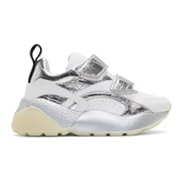 Stella Mccartney White And Silver Eclypse Sneakers