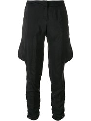 Giorgio Armani Vintage Baggy Detailing Cropped Trousers Black
