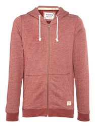 Jack And Jones Mens Long Sleeve Hooded Sweat Red