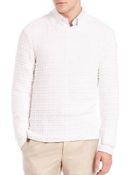 Saks Fifth Avenue X One Bxwd Textured Sweater Optic White