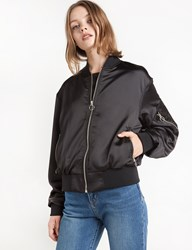 Pixie Market Black Circle Ring Zipper Bomber Jacket