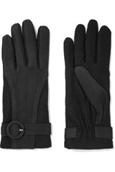 Agnelle Wool And Nubuck Gloves Black