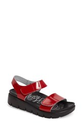 Alegria Women's Playa Sandal Red Patent Leather