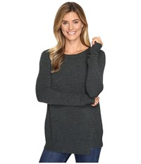 Lilla P Twisted Seam Crew Neck Juniper Women's Clothing Green