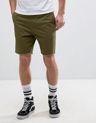 Brixton Chino Shorts With Raw Hem Khaki Green