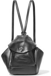 Manu Atelier Fernweh Mini Leather Backpack Black