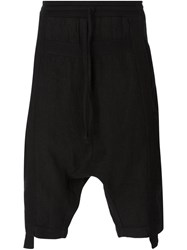 Lost And Found Drawstring Track Shorts Black