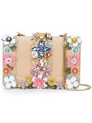 Gedebe Floral Crossbody Bag Nude And Neutrals