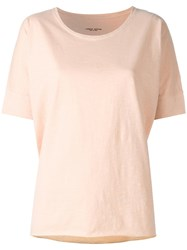 Roberto Collina Loose Fit T Shirt Nude Neutrals