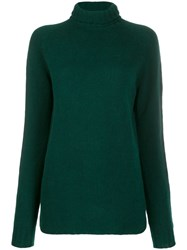 Ma'ry'ya Roll Neck Jumper Green