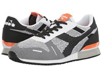 Diadora Titan Weave Black White Orange Athletic Shoes Multi