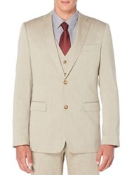 Perry Ellis Regular Fit Heather Twill Suit Jacket Natural