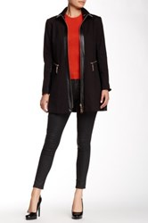 Insight Ponte Jacket With Faux Leather Contrast Black