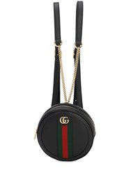 Gucci Ophidia Round Leather Backpack Black