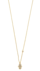 Tai Hamsa Necklace Gold Multi
